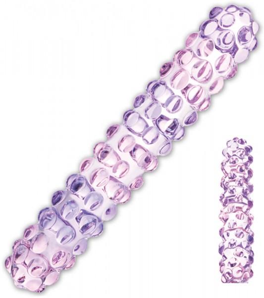 Gläs Purple Rose Nubby Dildo