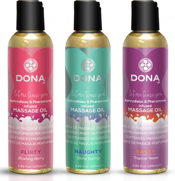 "DONA ""Let my Tease you"" Aphrodisierendes Pheromone-Massageöl 110ml"
