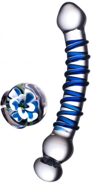 Glassvibrations Blue Flower
