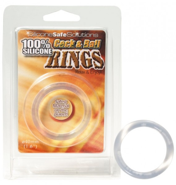 100% Silicone Cock & Ball Rings Ø 40mm