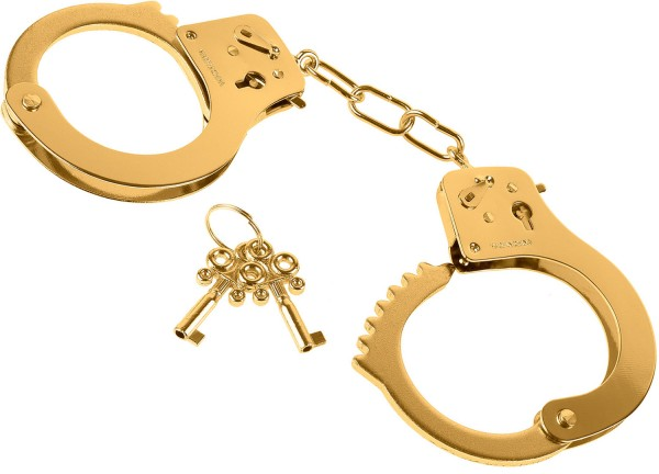 Fetish Fantasy Gold Metal Handcuffs Handschellen