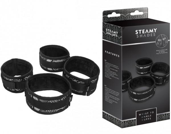 Steamy Shades Wrist to Ankle Cuffs
