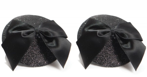 Bijoux Indiscrets Pasties Glitter & Satin Bow