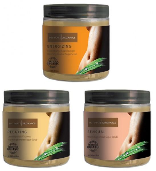 Intimate Organics Warming Fondue Sugar Scrub 240ml
